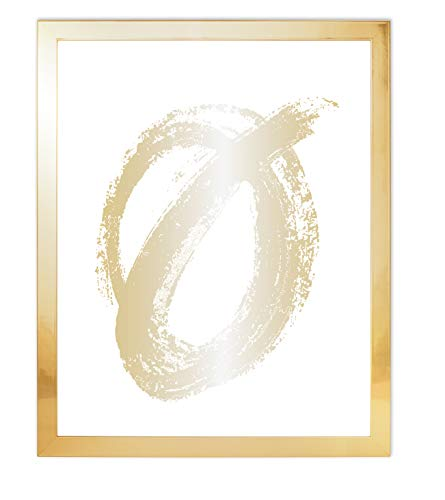 od Real Glass Flat Picture Frame for Wall or Tabletop Photo, 8x10, Yellow Gold ()