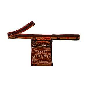 virblatt riñonera cáñamo étnica motivos hippies bolsa de cintura mochila bandolera - Nagaland