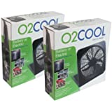 "O2Cool NEW 10"" Battery Operated Fan with Adapter pack of 2"