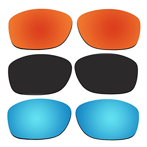 3 Pair Replacement Polarized Lenses for Oakley Pit Bull Sunglasses Pack - Pit Bull Sunglasses