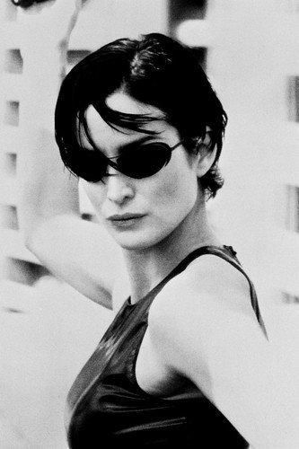 Carrie-Anne Moss in Sunglasses The Matrix 11x17 Mini - Sunglasses Moss