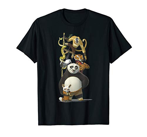 Kung Fu Panda Po And The Furious Five Portrait T-Shirt