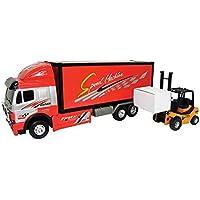 Team Power Truck Camion avec chariots Friction Transporteur Jouet Voiture 43cm