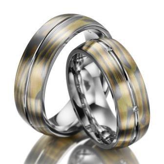 Anillos de boda confíes anillos Mokume gane E41082