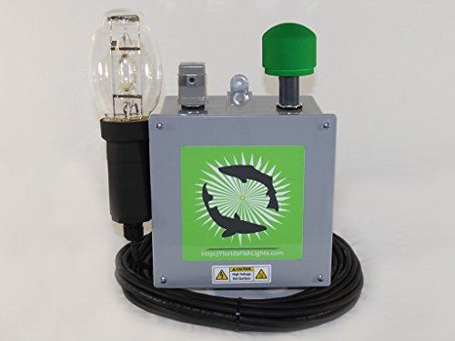 20,800 Lumen Green Underwater Dock & Fish Light by 250 Watt HID Green Underwater Dock & Fish Light Single Lamp System