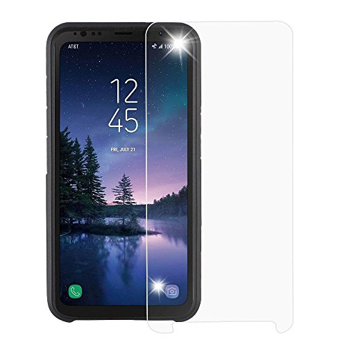 Galaxy S8 Active Screen Protector, Mybat Clear Tempered Glass LCD Screen Protector Shield Guard Film For Samsung Galaxy S8 Active