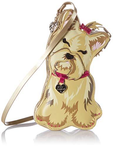 Betsey Johnson I Heart New Yorkie Crossbody, Brown (Handbags With Hearts)