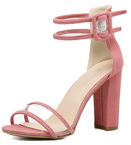 Sandali Con Cinturino Alla Caviglia Trasparenti E Alla Caviglia Con Cinturino Alla Caviglia E Punta Aperta