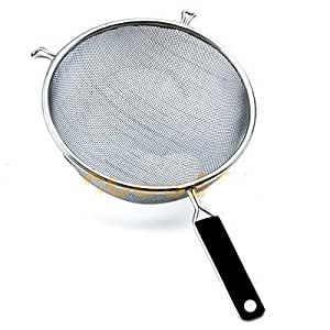 "5.5"" Stainless Steel Mesh Strainer Colander Basket with Handle Cookware NEW"