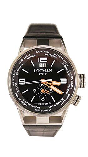 LOCMAN watch MONTECRISTO WORLD 0508A01S-00BKWHPK Men's