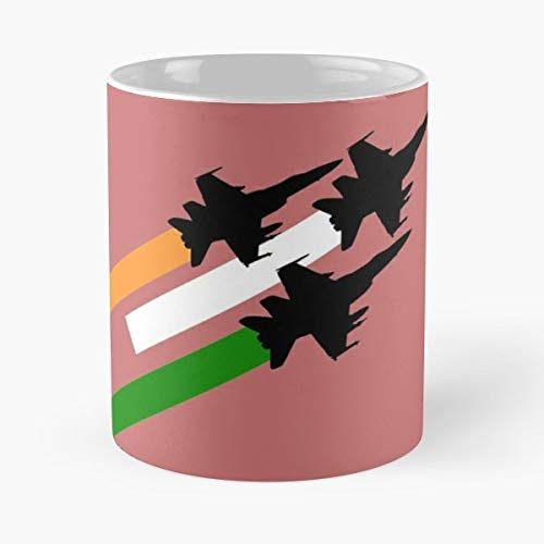 Jio Indian Army 2 Ceramic Coffee Mugs, Funny Gift