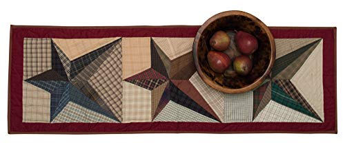 - Reto Barn Scrappy Star Country Quilted Table Runner
