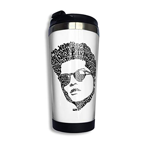 KGOISG Bruno Singer Mars Logo Coffee Cup Stainless Steel Water Bottle Cup Travel Mug Coffee Tumbler with Spill Proof Lid