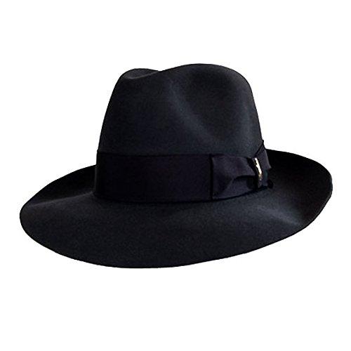 Borsalino Verdi Fur Felt Hat (58, Black)