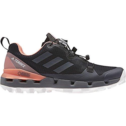 adidas outdoor Womens Terrex Fast GTX-Surround Shoe Black, Grey Five, Chalk Coral