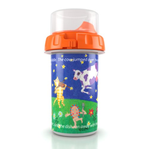 Poli BPA-Free Baby/Toddler Sippy Cup – Best Sippy Cup for Easy Flow and Easy Clean – 3 Nursery Rhyme Designs - #1 Keepsake Baby Shower Gift Ideas – Made in USA. (One Cup Per Order) Holds 8 Ounce.