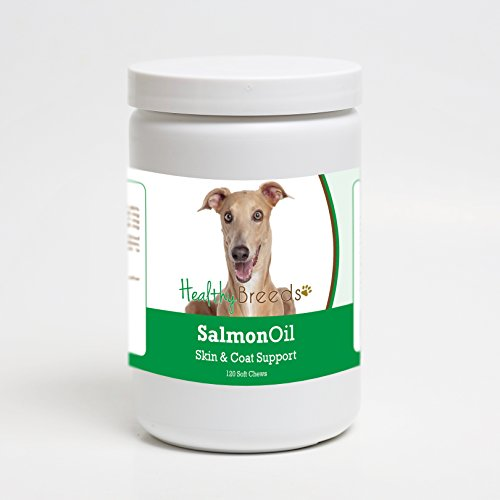 Cheap Healthy Breeds Dog Omega 3 Fish Oil Soft Chews for Italian Greyhound – Over 200 Breeds – Reduce Shedding – Easier Than Capsules & Pumps – 120 Chews