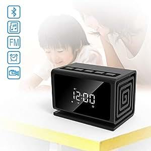 ZMM Cámara IP Digital Escritorio Reloj Entretenimiento Altavoz WiFi vídeo en Vivo o reproducción Seguridad en