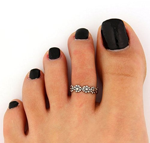 Celebrity Women Fashion Simple Toe Ring Adjustable Foot Beach Jewelry