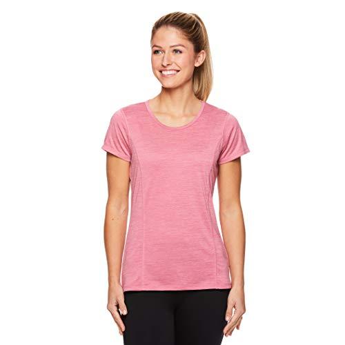 Tee Team Tennis - HEAD Women's Short Sleeve Workout Scoop Neck T-Shirt - Performance Tennis Crew Neck Activewear Top - Wild Rose Heather, 3X