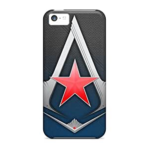 Slim Fit Tpu Protector Shock Absorbent Bumper Assassins Creed 3 Logo Case For Iphone 5c