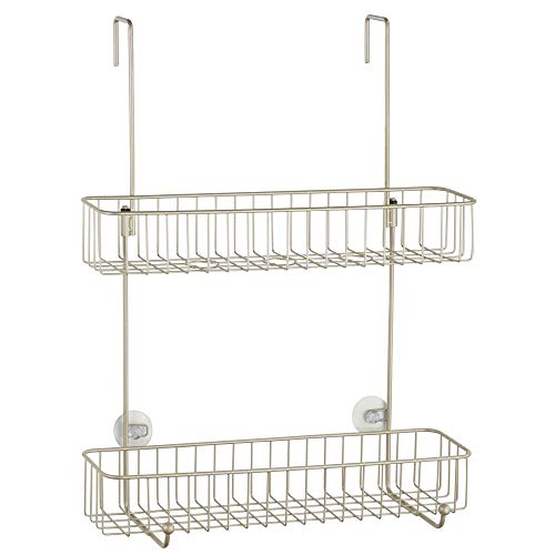 mDesign Extra Wire Over Shower Storage with Built-in and on 2 -