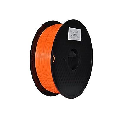 JURUI 3D Printing Filament PLA 1kg 1.75 Fluorescent Orange 3D Printer Filament PLA, Dimensional Accuracy +/- 0.05 mm, 1 kg Spool(2.2 lbs), 1.75mm