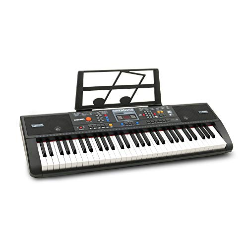 Plixio 61-Key Electric Piano Keyboard with Music Sheet Stand – Portable Electronic Keyboard
