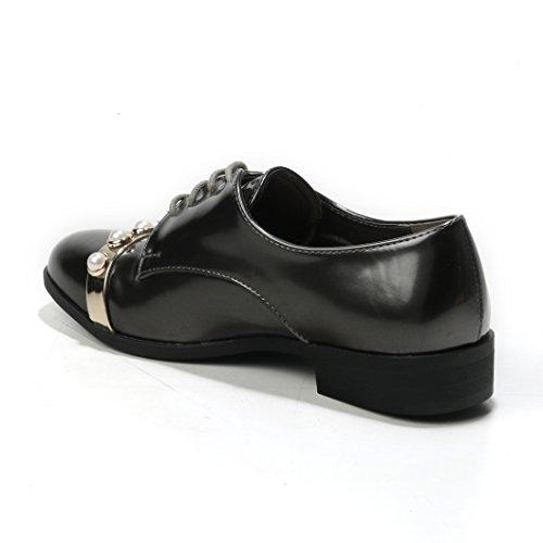 Coupe Classique Chaussures Gris Et à Lacets Femme HERIXO qwFxI4ORI