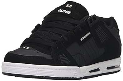 Globe Men's Sabre Walking Shoe, Black/Carbon/White, 7 M US