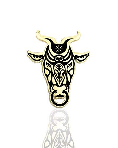 IronPatch Minotaur Hard Enamel Pin Greek Mythology Bull Fashion Accessory for Lapels, Denim Jackets, Hats, Bags, Dress Shirts ()