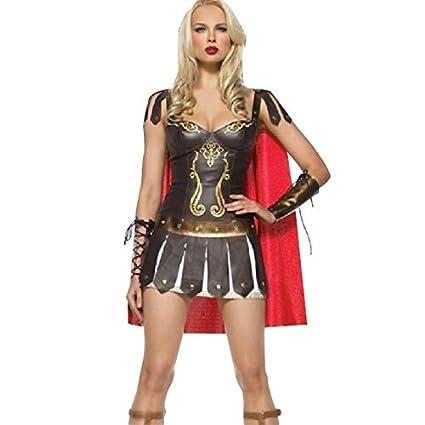FHSIANN Señoras Cuero Romano Griego Gladiador Guerrero ...