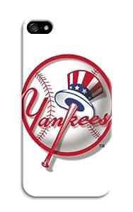 Lifelike Iphone 5/5S Case With Baseball Mlb New York Yankees Color Print