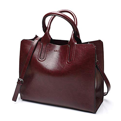Leather Handbags Women Bag Casual Female Trunk Tote Spanish Brand Shoulder Large Bolsos,coffee (Best Money Makers On Ebay)