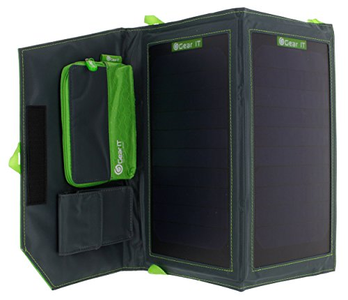 GearIt Solar Charger, Foldable Compact 11W 5.5V Efficiency
