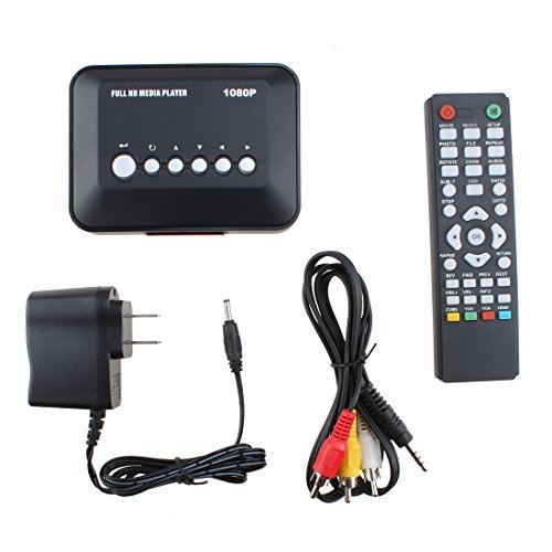 AGPTEK 1080P Full HD Multi TV Media Player HDMI USB SD MMC RMVB MP3 AVI MPEG Divx MKV