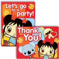 Invitations and Thank You Combo | Ni Hao Kai Lan Collection | Party Accessory]()