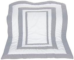 Baby Doll Bedding Modern Hotel Style Crib Comforter, Grey