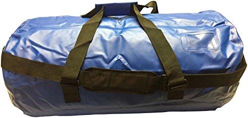 Waterproof Dry Duffel Offshore Gear Bag 70L Heavy 25 Gauge Vinyl | Welded Seam| Carry Handles, Shoulder Strap (Royal) For Sale