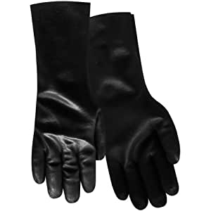 Red Steer BWG12L PVC Coated Rough Glove, Black, Large