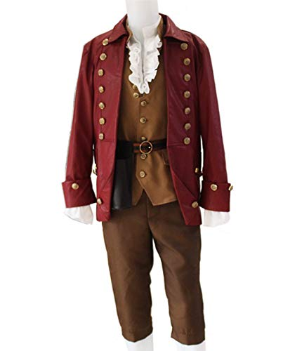Mordarli Beauty and The Beast Movie Men's Gaston Performance Uniform Hallowee Cosplay Costume -