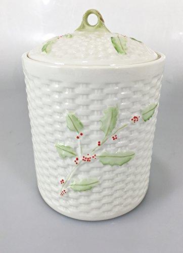 Belleek China Enchanted Holly Biscuit Jar 5 1/8