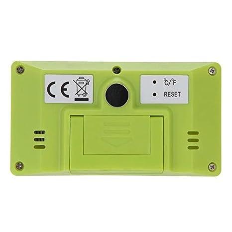 Goliton 3.3 LCD Mini Digital Innenhaupt Thermometer Hygrometer Temperatur Wei/ß und Feuchtigkeitsmessger/ät