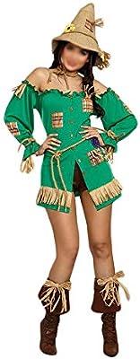 ZSRHH-Falda Vestido de Mujer Horror de Halloween espantapájaros ...