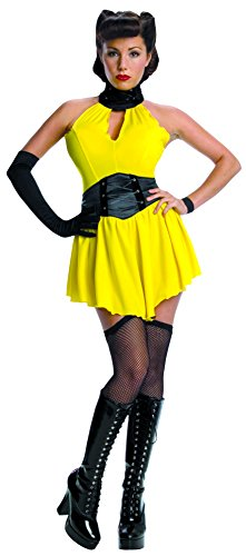 [Secret Wishes Women's Warner Brothers Watchmen, Adult Sally Jupiter Costume, Yellow/Black, Small] (The Watchmen Silk Spectre Costume)
