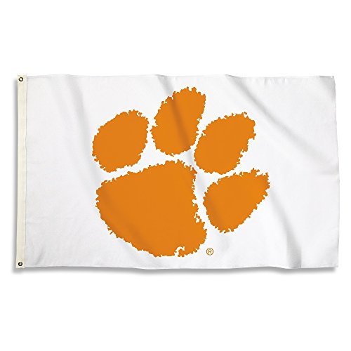 (NCAA Clemson Tigers 3 X 5 Foot Flag with Grommets, Team Color,)
