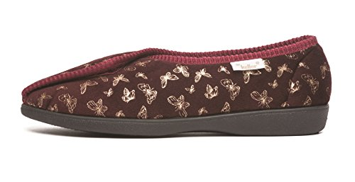 Pour Fille gold Cosies Burgundy Chaussons 57qHwz