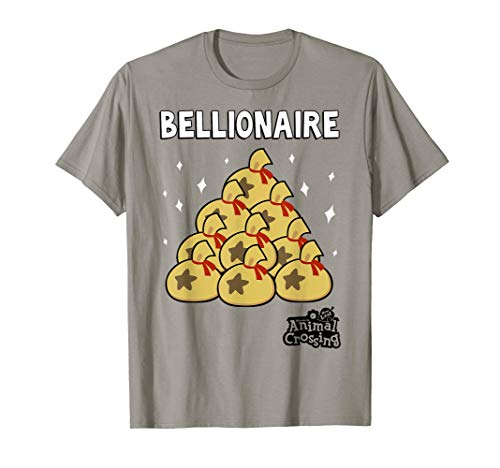 Animal Crossing New Leaf Bellionaire Graphic T-Shirt (Animal Crossing New Leaf Brick Qr Code)