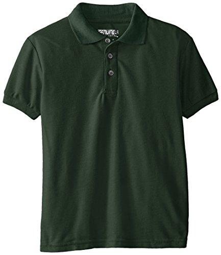 Genuine Shirt Boys (Genuine Boys' Polo Shirt (More Styles Available), Basic Hunter, 5/6)