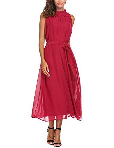 Neck Chiffon Women Dresses - 3